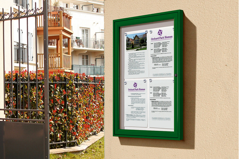 Notice Board -  Single Door Aluminium Frame External Use