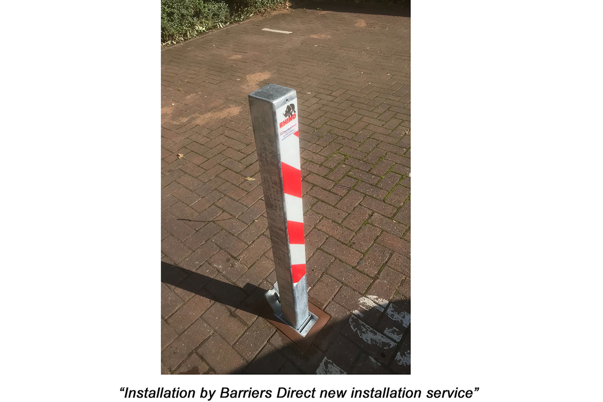 Parking Post Removable - ideal for where you can't dig  deep enough for a telescopic post. image