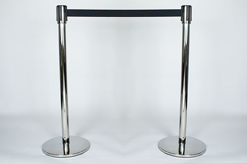 Tensabarrier® Post Slimline Retractable Belt as a Pair in Polished Stainless Steel (only 1 pair remaining)
