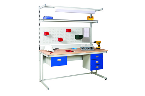 Workbenches Cantilever - Workshop benches perfect for production, assembly areas or light engineering