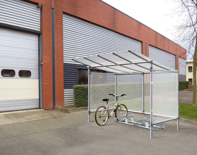 Cycle Shelter- 5 spaces Protective side panels - Solid Value For Money