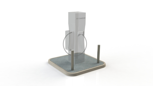 Electric Charging Station Protection - x2 Bollard Stainless Steel Semi Dome - 76mm x 2mm x 750mm