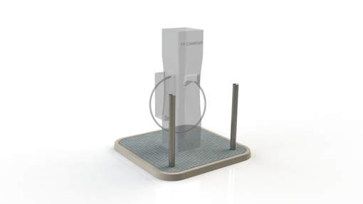 Electric Charging Station Protection - x2 Bollard Stainless Steel Semi Dome - 76mm x 2mm x 1200mm