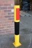 Impact Protection Bollard (114mm DIA) 1000mm above ground - Yellow & Black Finish as standard image