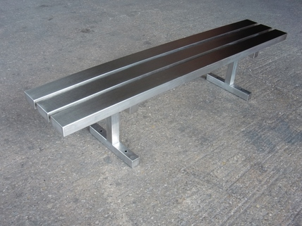 Bench - Stainless Steel - High End Contemporary Seating