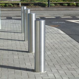 Bollard Stainless Steel Semi Dome – 76mm x 2mm 1200mm Overall Length - 900mm above -Super Satin finish